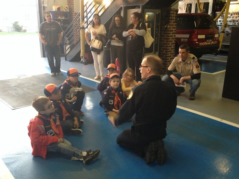 Tiger Pack 268 Visits Norristown Fire Department